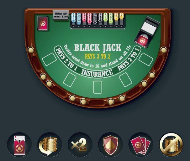 カジノテーブル-ブラックジャック