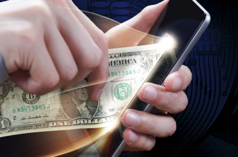 スマートフォンに入金