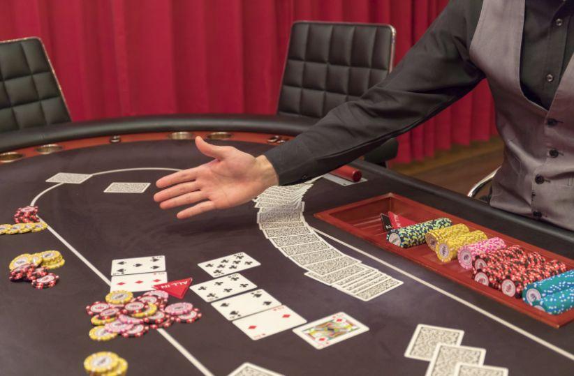 バカラをするカジノテーブル