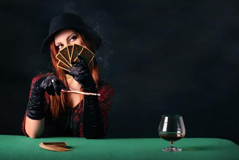 カジノと悪魔のような女性