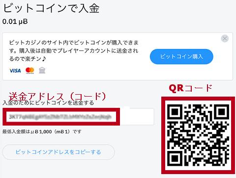 ビットコイン送金コードとQRコード