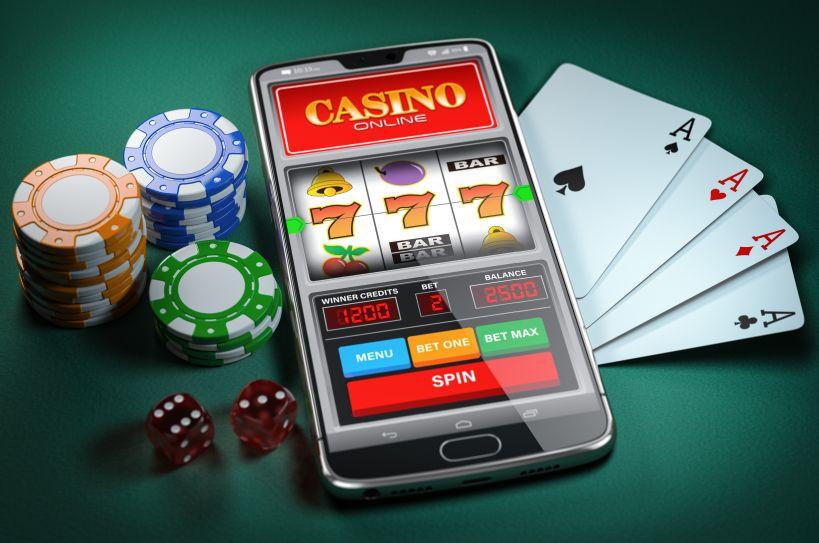 スマートフォンに映るオンラインカジノ
