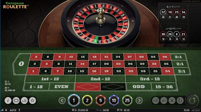 ベラジョンカジノ無料ルーレット