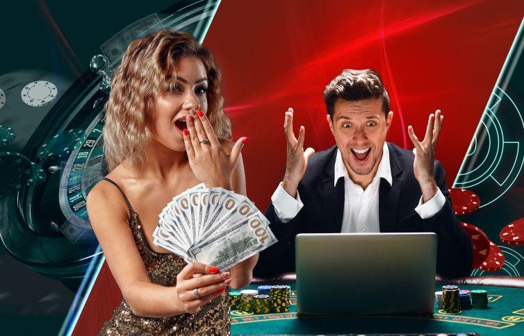 オンラインカジノを楽しむ男女
